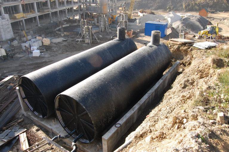 Резервуар подземный для хранения СУГ V=25 м3, одностенный на опорах, с наружным антикоррозионным пок